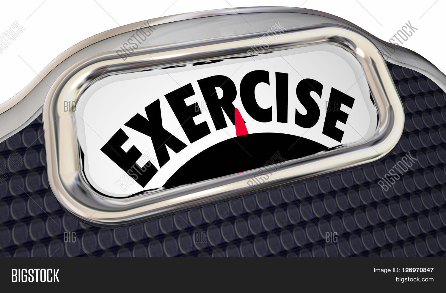 Exercise Word Scale Image Photo Free Trial Bigstock
