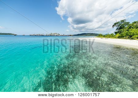 Togean Islands, Transparent Turquoise Water And Scenic Beach
