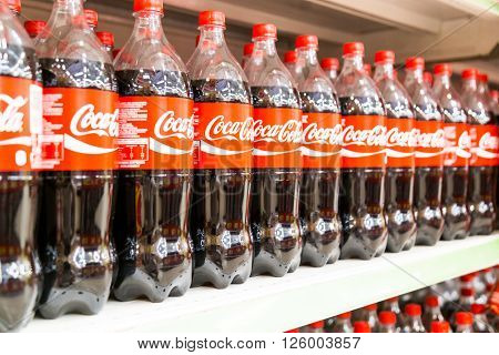 Kuala Lumpur, Malaysia, April 16, 2016: Coca Cola Maintain Its Leadership Position In The Malaysia C