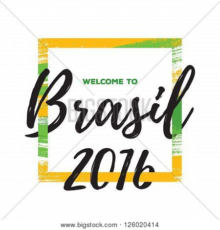 Rio de janeiro 2016 Brasil abstract colorful background vector illustration. Good for advertising design.