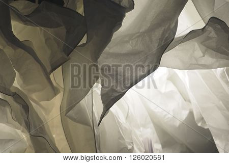 Background paper lamp disastrously hanging worm white photo to soft blur
