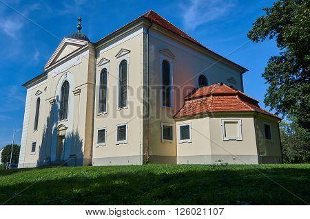 Classicist Lutheran Church in Sycowo in Poland