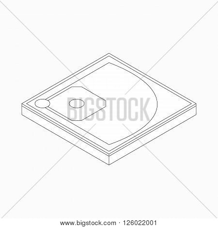 Baseball field icon in isometric 3d style on a white background