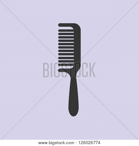 Comb vector barber comb salon comb comb hair black comb. Vector illustration poster