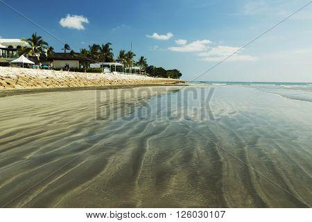Amazing blue beach Kuta, Bali in Indonesia