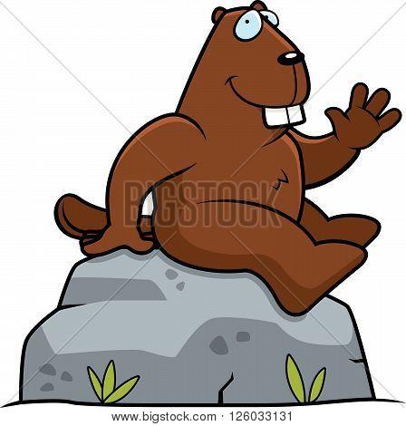 Beaver Sitting