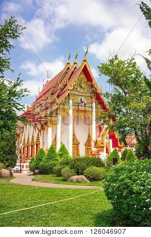 beautiful Wat Chalong temple in Phuket, Thailand