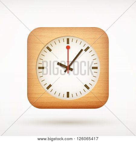Clock App Icon On Rounded Corner Square