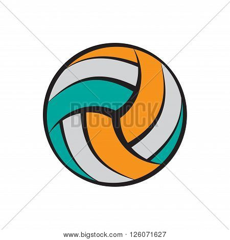 Abstract flat volleyball silhouette isolated on white. eps10