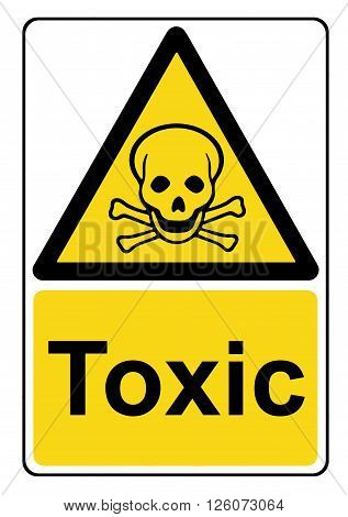 An illustration of a Toxic yellow warning sign poster