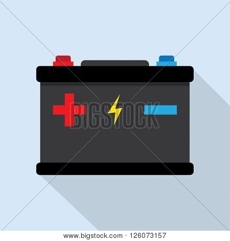 Accumulator battery energy power and electricity accumulator battery. Accumulator battery alkaline generation energy. Battery accumulator car auto parts electrical supply power isolated 12v vector.