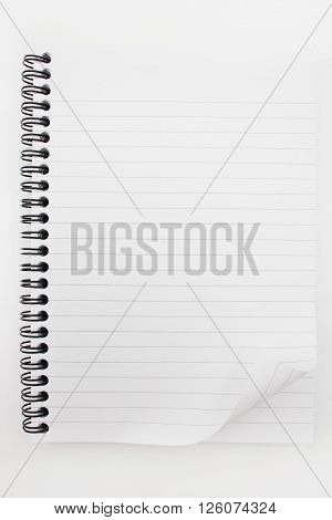 a one  notebook isolated on white background