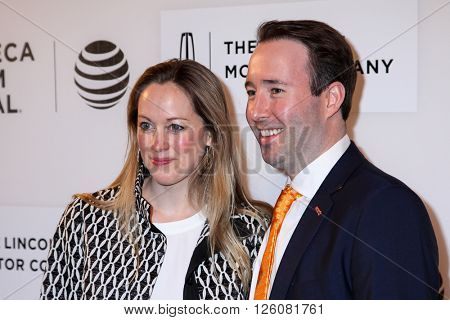 NEW YORK, NY - APRIL 16: Lindsay Schmidt and Edward Shapoff  attend 'Youth In Oregon' Premiere - 2016 Tribeca Film Festival  on April 16, 2016 in New York City
