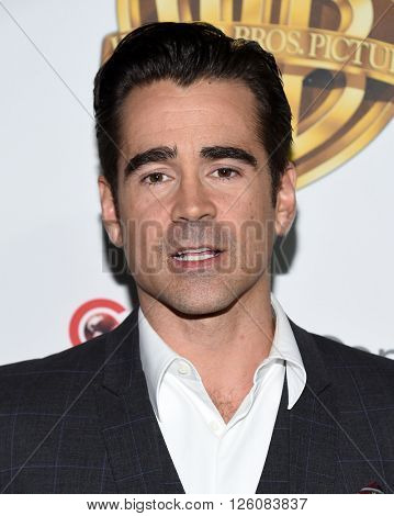 LOS ANGELES - APR 12:  Colin Farrell arrives to the CinemaCon 2016: Warner Bros.