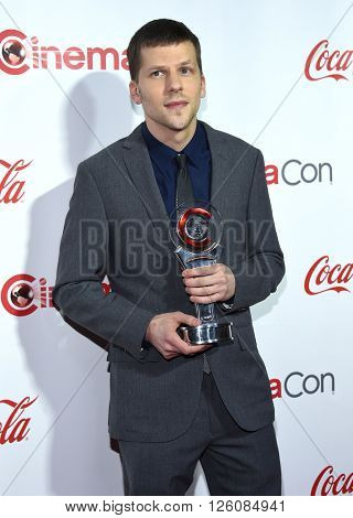 LOS ANGELES - APR 14:  Jesse Eisenberg arrives to the Cinema Con 2016: Awards Gala  on April 14, 2016 in Las Vegas, NV.