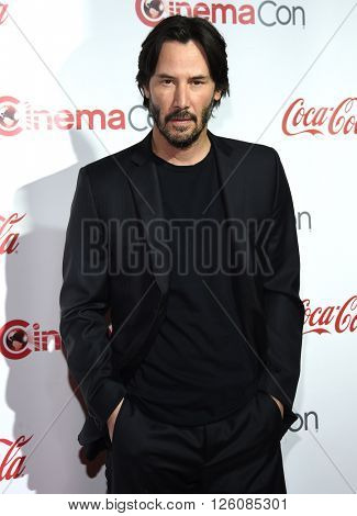 LOS ANGELES - APR 14:  Keanu Reeves arrives to the Cinema Con 2016: Awards Gala  on April 14, 2016 in Las Vegas, NV.