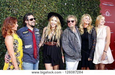 Sammy Hagar, Kari Karte-Hagar and family at the John Varvatos 13th Annual Stuart House Benefit held at the John Varvatos in West Hollywood, USA on April 17, 2016.