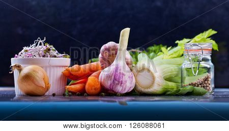 Assorted vegetable. Healthy lifestile. Green concept.