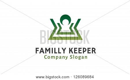 Familly Keeper Creative And Symbolic Logo Design Illustration