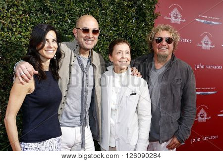 Joyce Varvatos, John Varvatos, Sammy Hagar and Gail Abarbanel at the John Varvatos 13th Annual Stuart House Benefit held at the John Varvatos in West Hollywood, USA on April 17, 2016.