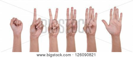 Hand Show The Number One