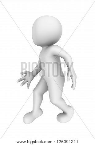3d person is stolen. 3d rendered illustration.