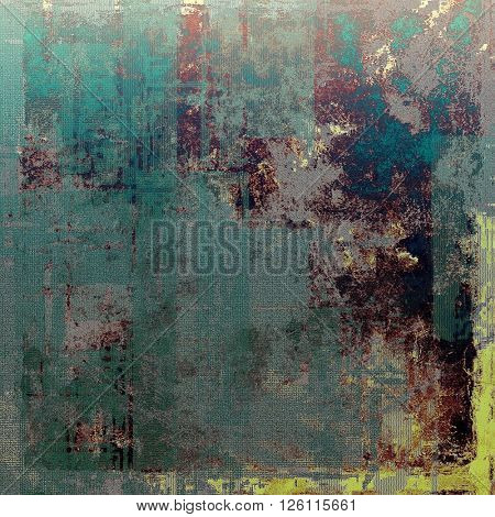 Vintage and retro design elements on faded grunge background. With different color patterns: yellow (beige); brown; gray; blue; purple (violet); cyan