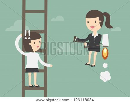 competition in business concept stock vector. Business Concept Cartoon Illustration.