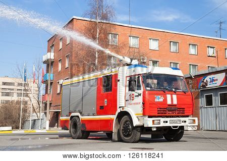 Kamaz 43253 Truck, Red Russian Fire Engine