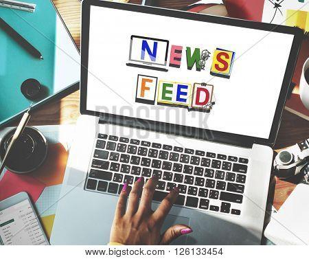News Feed Social Media Announcement Concept