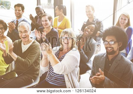 Audience Applaud Clapping Happiness Appreciation Training Concept