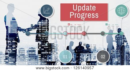 Update Progress Data Information Networking Tracking Concept
