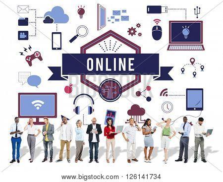 Online Connection Marketing Communication Concept
