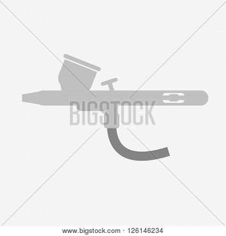 Airbrush or spray gun vector. Grey airbrush.