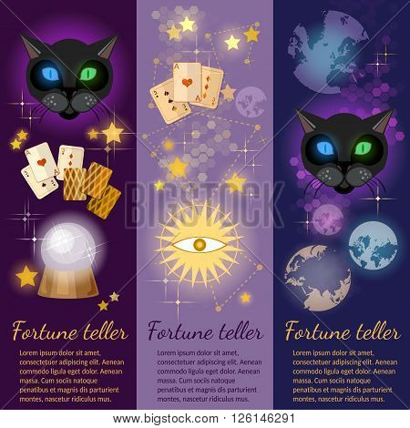 Astrology and alchemy banners alchemy fortune telling