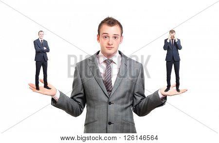 A businessman unsure of a decision