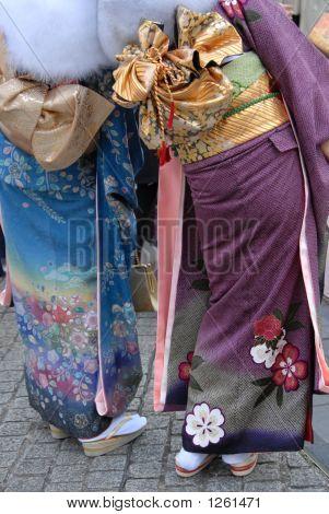 Colourful Kimono Dress