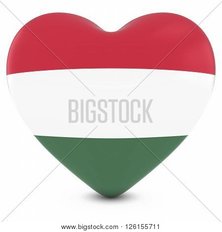 Love Hungary Concept Image - Heart Textured With Hungarian Flag