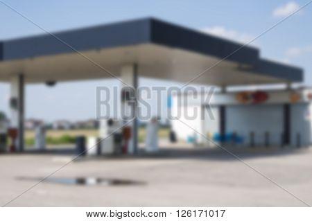 blurred benzine diesel station area for refueling