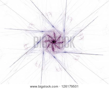 Fractal Radial Pattern On The Subject Of Science, Technology And Design