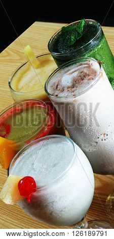 Cocktail with lots of exciting flavours, eat healthy live healthy