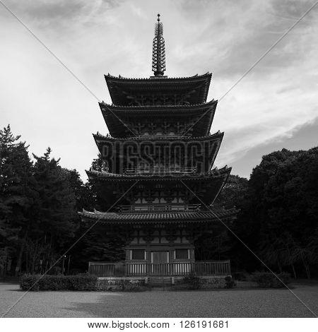 Pagoda Of Daigoji Temple In Kyoto
