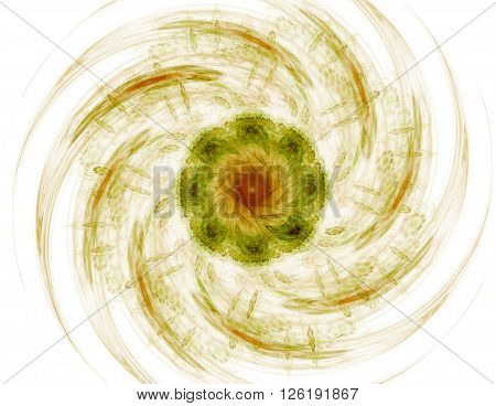 Elementary Particles series. Interplay of abstract fractal forms on the subject of nuclear physics science and graphic design.