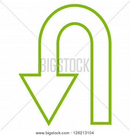 Return Arrow vector icon. Style is outline icon symbol, eco green color, white background.