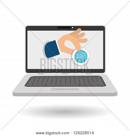 Buy concept with online icon design, vector illustration 10 eps graphic.