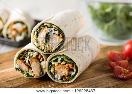 Tandoori Chicken Wrap With Tzatziki