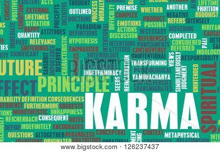 Karma as a Spiritual Concept Abstract Art