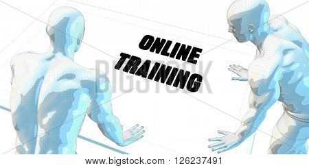 Online Trading Discussion and Business Meeting Concept Art 3D Illustration Render