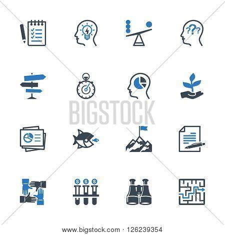 Business Management Icons Set 3 - Blue Series