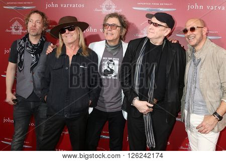 LAS VEGAS - APR 17:  Robin Zander, Tom Petersson, Rick Nielsen, Daxx Nielsen, John Varvatos at the Stuart House Benefit at the John Varvatos Store on April 17, 2016 in West Hollywood, CA